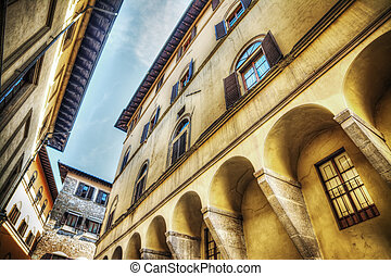 美しい, 建物, 中に, フィレンツェ