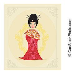 美しい, 日本語, 芸者, カード