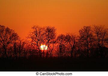 美しい, 日没