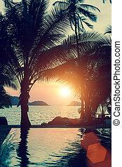 美しい, 日没 浜