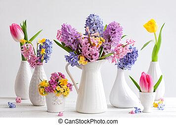 美しい, 春の花, 花束