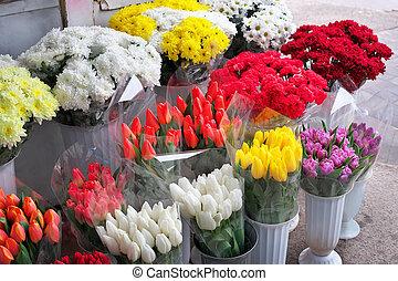 美しい, 春, flowers., 花束, 新鮮な花