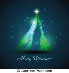 美しい, 木, クリスマス