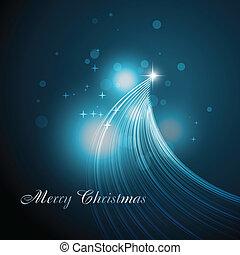 美しい, 木, 芸術的, クリスマス