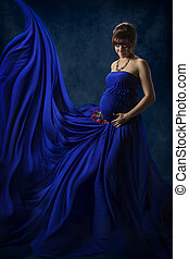 美しい, 概念, 美しさ, 妊婦, 母性, 肖像画