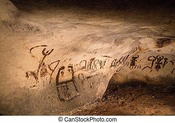美しい, 洞穴, 図画