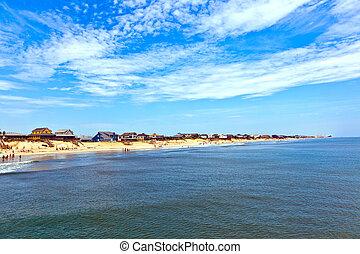 美しい, 浜, ∥において∥, ∥, 外 銀行, 中に, アメリカ