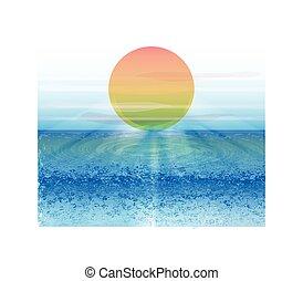 美しい, 浜, 背景