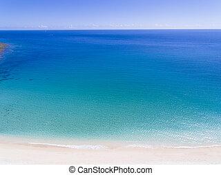 美しい, 浜, 航空写真, 砂, 光景