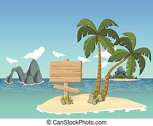 美しい, 熱帯 島