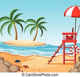 美しい, 熱帯 浜, 島