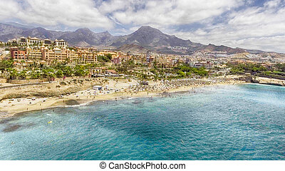 美しい, 熱帯 浜, 空中写真