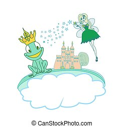 美しい, 特徴, カエル皇子, 妖精, 漫画