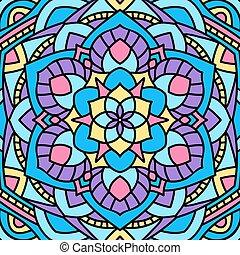 美しい, 珍しい, pattern., mandala., 背景, 円