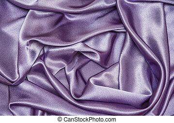 美しい, 生地, banner., 紫色, 優雅である, 抽象的, 滑らかである, 手ざわり, 布, 波状, 贅沢, 背景, すみれ, 絹, サテン, ∥あるいは∥, カード, design.