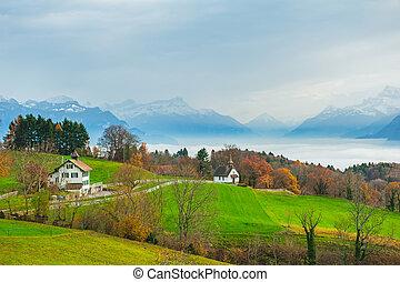 美しい, 田舎, 風景