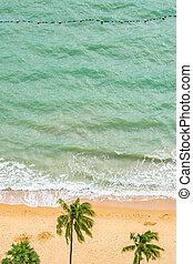 美しい, 空中写真, 海, 熱帯 浜