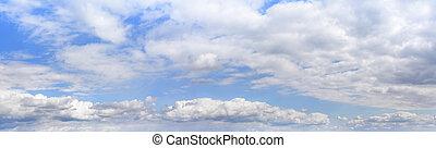美しい, 空, panorama., 曇り