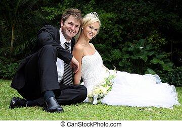 美しい, 結婚式の カップル