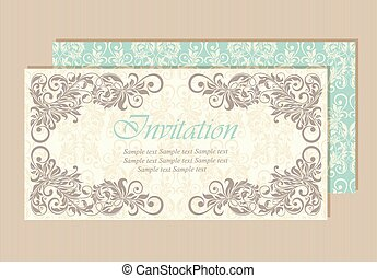 美しい, 結婚式, カード, 招待