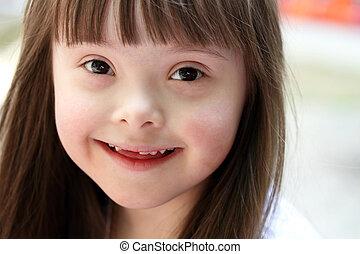 美しい, 肖像画, 女の子, 若い