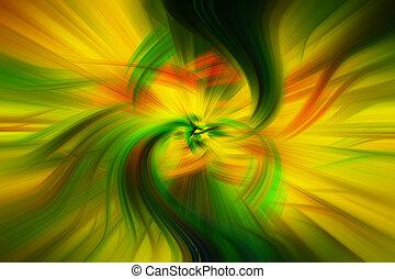 美しい, 背景, 抽象的, 黄色, 調子, オレンジ, 緑, 青