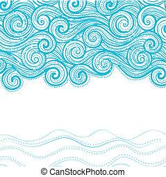 美しい, 背景, 波