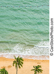 美しい, 航空写真, トロピカル, 海, 浜, 光景