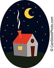 美しい, 色, 家, ごく小さい, ベクトル, イラスト, ∥あるいは∥