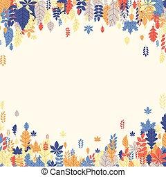 美しい, 色, 秋, leaves., 背景