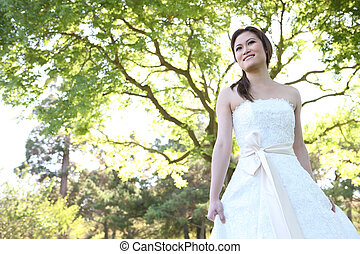 美しい, 花嫁, アジア人, 結婚式