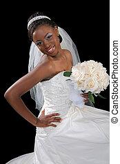 美しい, 花嫁, アメリカ人, アフリカ, 肖像画