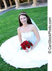 美しい, 花嫁, 女, 結婚式