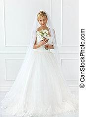 美しい, 花嫁, wedding.