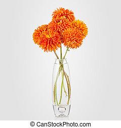美しい, 花束, の, アスター, つぼの花