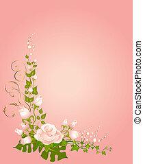 美しい, 花束, ばら