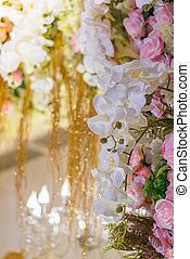 美しい, 花, バレンタイン, 現場, 結婚式