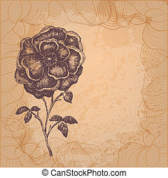 美しい, 花, ベクトル, イラスト