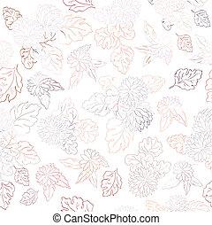 美しい, 花, ベクトル, 手ざわり, イラスト