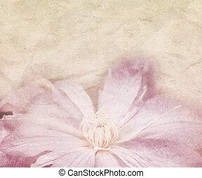 美しい, 花, レトロ, 背景, 結婚式