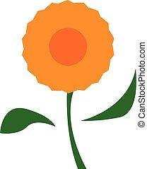 美しい, 花, 色, イラスト, ベクトル, オレンジ, ∥あるいは∥