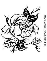 美しい, 花, tatto, シャクヤク, ものもらい