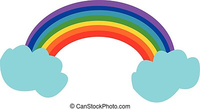 美しい, 虹, 色, イラスト, ベクトル, ∥あるいは∥