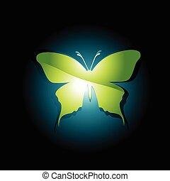 美しい, 蝶, ベクトル