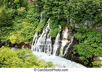 美しい, 谷, 滝