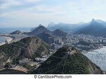 美しい, 都市, janeiro, パノラマ, de, リオ