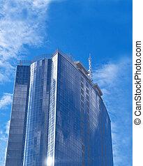 美しい, 鋼鉄, -, ガラス, 超高層ビル, 未来派