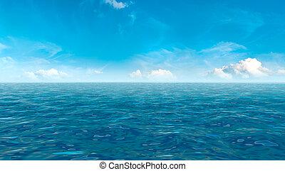 美しい, 青い空, 海洋