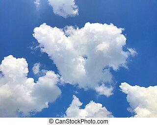 美しい, 青い空, 雲, 大きい