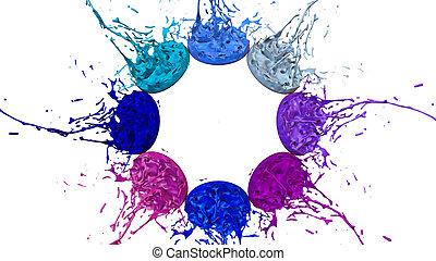 美しい, 青, プレーしなさい, ultra, バックグラウンド。, ダンス, ペンキ, quality., 陰, ...